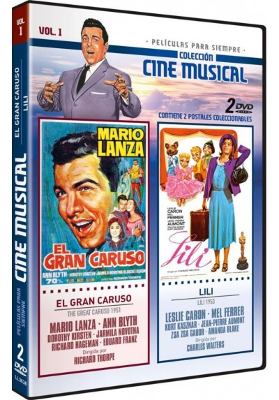 Coleccion Cine Musical: El Gran Caruso (The Great Caruso) 1951 + Lili (Lili) 1953 Vol. 1