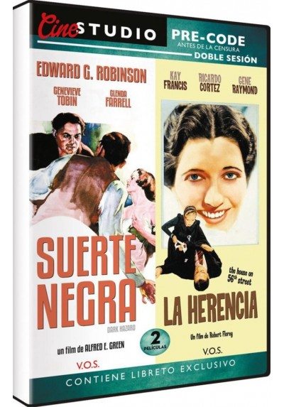 Doble Sesión Pre-Code: Suerte Negra (Dark Hazard) + La Herencia (The House on 56th Street) (V.O.S.)