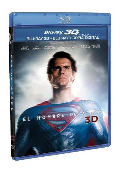 El Hombre De Acero (Blu-Ray 3d + Blu-Ray + Copia Digital) (Man Of Steel)