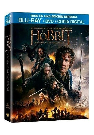 El Hobbit : La Batalla De Los Cinco Ejercitos (Blu-Ray + Dvd + Copia Digital) (The Hobbit: The Battle Of The Five Armies)