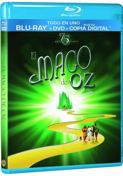 El Mago De Oz (Blu-Ray + Dvd + Copia Digital) (Ed. 75º Aniversario) (The Wizard Of Oz)