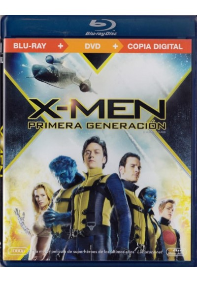 X-Men : Primera Generación (Blu-Ray + Dvd + Copia Digital) (X-Men: First Class)