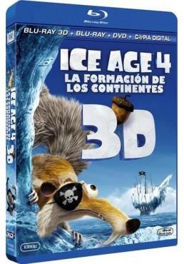 Ice Age 4: La Formación De Los Continentes (Blu-Ray 3d + Blu-Ray + Dvd + Copia Digital) (Ice Age: Continental Drift)