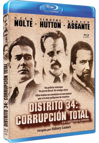 Distrito 34 (Corrupción Total) (Blu-Ray) (Q & A (Questions & Answers)