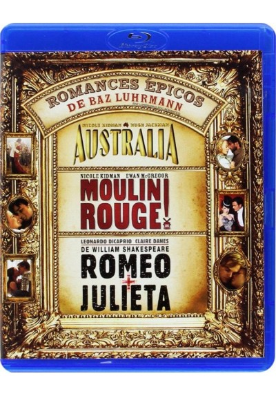 Pack Romances épicos: Australia / Moulin Rouge / Romeo Y Julieta (1996) (Blu-Ray)