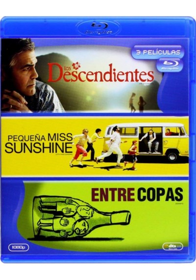 Pack Los Descendientes / Pequeña Miss Sunshine / Entre Copas (Blu-Ray)