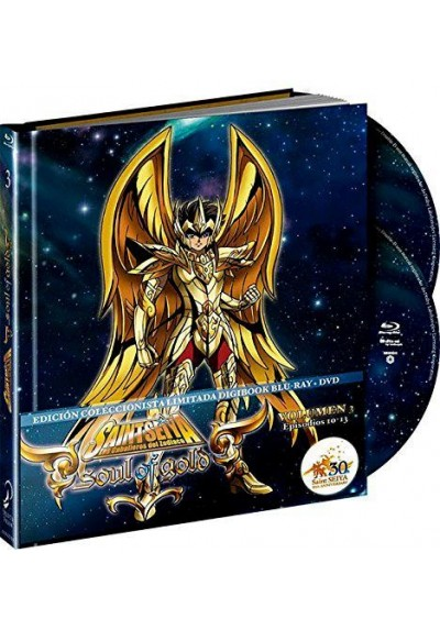 Saint Seiya - Soul Of Gold - Vol. 3 (Blu-Ray + Dvd + Extras) (Ed. Digibook Coleccionista)