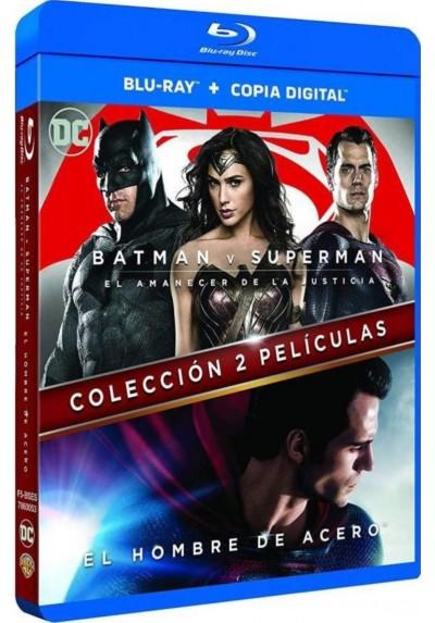 Pack El Hombre De Acero + Batman V Superman (Blu-Ray)
