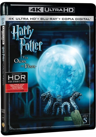 Harry Potter Y La Orden Del Fenix (Blu-Ray 4k Ultra Hd + Blu-Ray + Copia Digital) (Harry Potter And The Order Of The Phoenix)