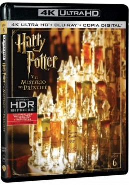 Harry Potter Y El Misterio Del Príncipe (Blu-Ray 4k Ultra Hd + Blu-Ray + Copia Digital) (Harry Potter And The Half-Blood Prince)