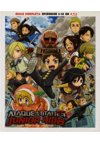 Ataque A Los Titanes: Junior High - Serie Completa (Blu-ray) (Attack On Titan: Junior High