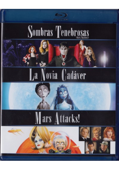 Pack Sombras Tenebrosas / La Novia Cadáver / Mars Attacks (Blu-Ray)