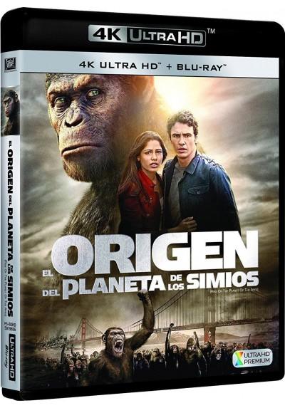 El Origen Del Planeta De Los Simios (Blu-Ray 4k Ultra Hd + Blu-Ray) (Rise Of The Planet Of The Apes)