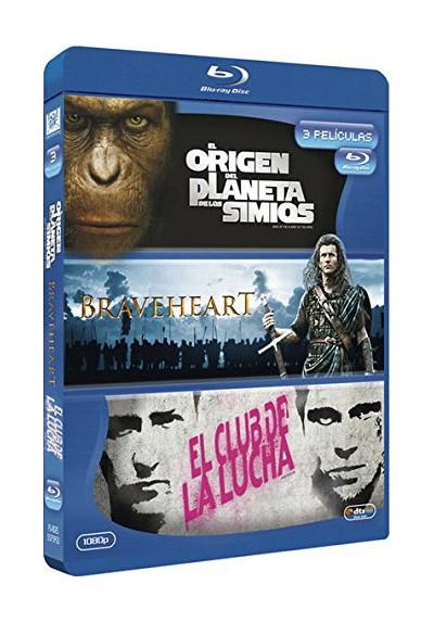 El Origen Del Planeta De Los Simios / Braveheart / El Club De La Lucha (Blu-Ray)