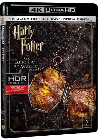 Harry Potter Y Las Reliquias De La Muerte - 1ª Parte (Blu-Ray 4k Ultra Hd + Blu-Ray + Copia Digital)