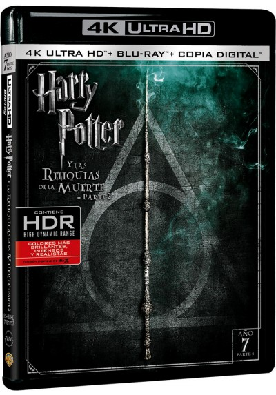 Harry Potter Y Las Reliquias De La Muerte - 2ª Parte (Blu-Ray 4k Ultra Hd + Blu-Ray + Copia Digital)