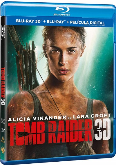 Tomb Raider (2018) (Blu-Ray 3d + Blu-Ray + Película Digital)