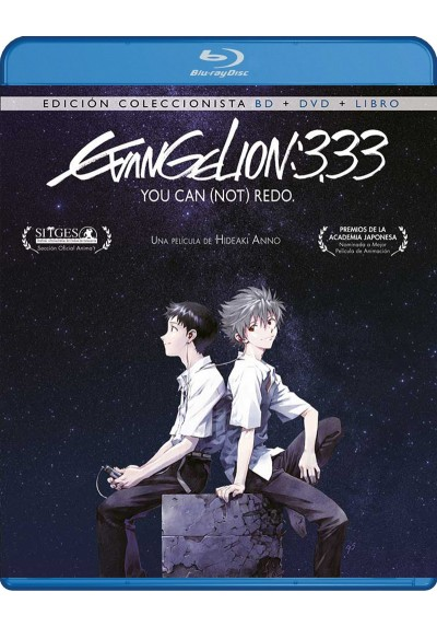 Evangelion 3.33 You Can (Not) Redo (Blu-Ray + Dvd + Extras) (No contiene libro)