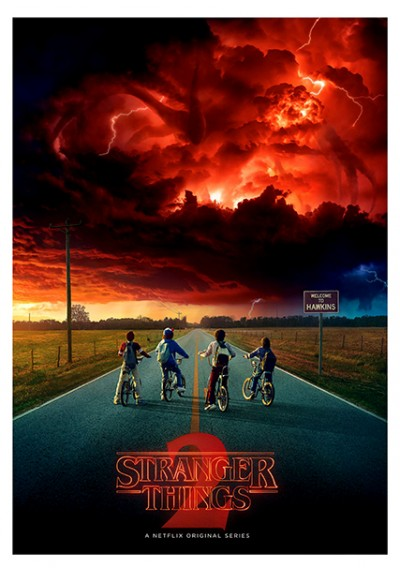Stranger Things - 2ª Temparada - En la carretera (POSTER)