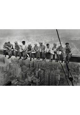 Hombres comiendo en el andamio de Nueva York (POSTER)