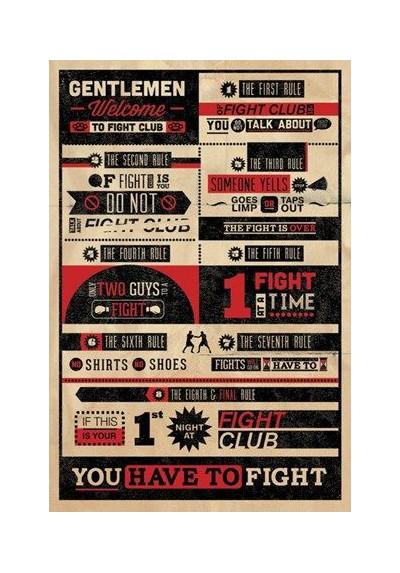 Reglas del Club de la Lucha (POSTER)