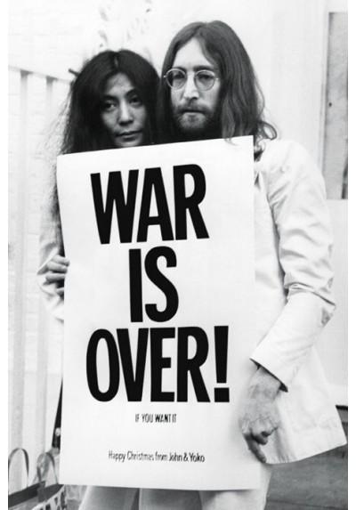 John Lennon y su mujer Yoko Ono (POSTER)
