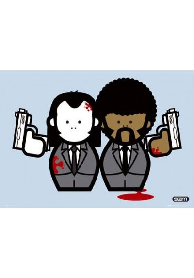 Pulp Fiction Ilustración (POSTER)