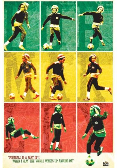 Bob Marley - Footbal (POSTER)