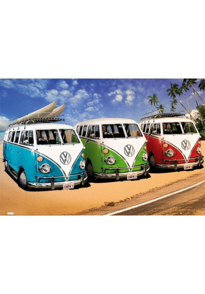 VW CAMPERS (POSTER)