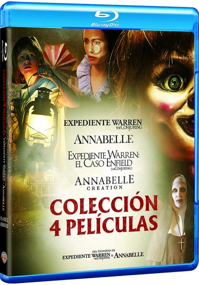 Pack Conjuring: Annabelle 1+2 + Expediente Warren 1+2 (Blu-Ray)