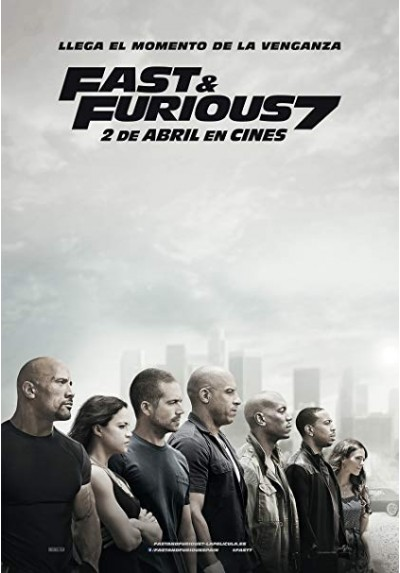 Fast and Furious 7 - Protagonistas (POSTER)