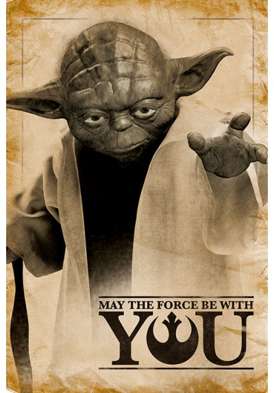 Póster Star Wars - Yoda, May The Force Be With You (POSTER)