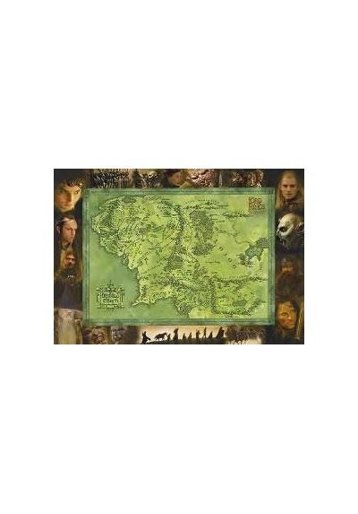 El Señor de los Anillos - Mapa y Personajes (POSTER)