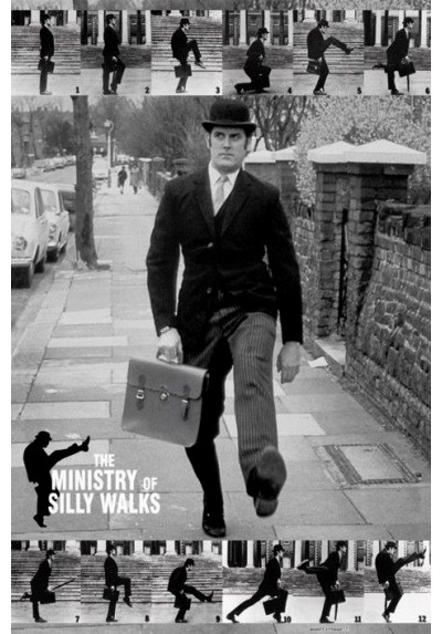 The Ministry of Silly Walks - Monty Python (POSTER)