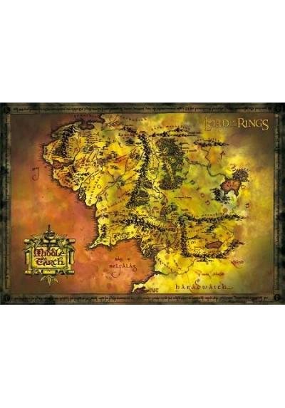 Mapa de la Tierra Media - El Señor de los Anillos (POSTER)