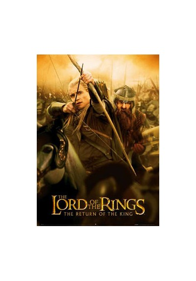 El Retorno del Rey - Légolas y Gimli (POSTER)