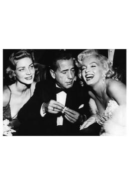 Marilyn Monroe, Humphrey Bogart y Lauren Bacall (POSTER)