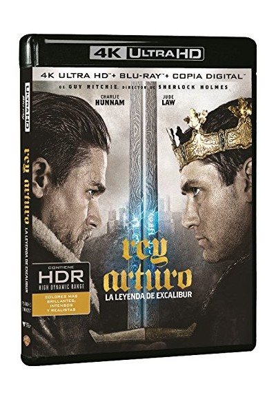 Rey Arturo: La Leyenda De Excalibur (Blu-Ray 4k Ultra Hd + Blu-Ray + Copia Digital) (King Arthur: Legend Of The Sword)