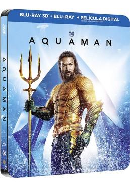 Aquaman (Blu-Ray 3d + 2d + Película Digital) (Ed. Metálica)