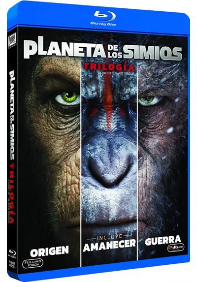 Trilogía El Planeta De Los Simios -  (Blu-Ray)