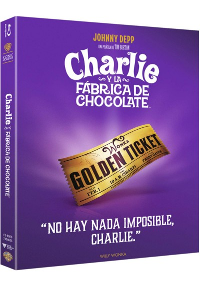 Charlie Y La Fábrica De Chocolate - Iconic (Blu-Ray) (Charlie And The Chocolate Factory)