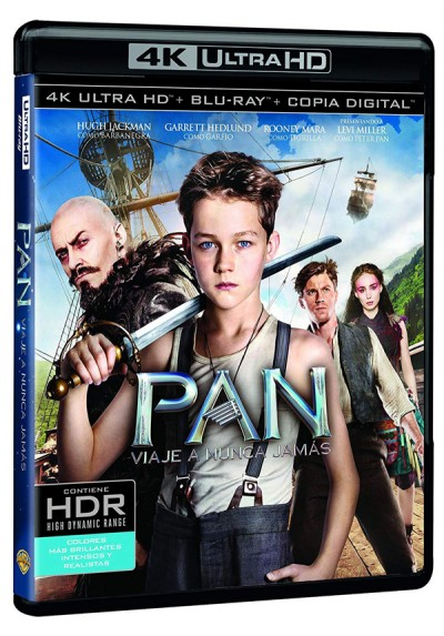 Pan : Viaje A Nunca Jamas (Blu-Ray 4K + Blu-Ray + Copia Digital)