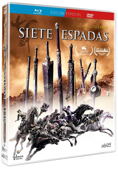 Siete Espadas (Blu-ray + Dvd) (Qi jian (Chat gim) (Seven Swords)