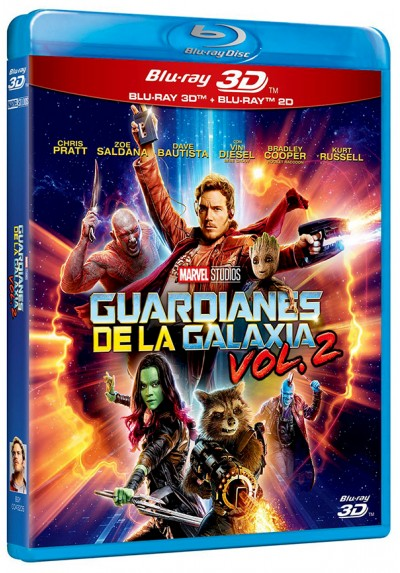 Guardianes de la galaxia Vol. 2 (Blu-ray + Blu-ray 3D) (Guardians of the Galaxy Vol. 2)