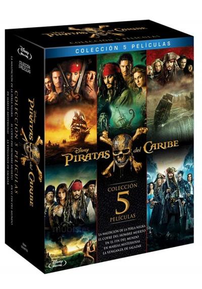 Pack Piratas Del Caribe - Volúmenes 1-5 (Blu-ray)