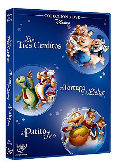 Pack: Fabulas 3 Cerditos + El Patito Feo + La Liebre Y La Tortuga