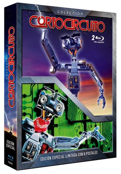 Digipack Cortocircuito + Cortocircuito II  - 8 Postales Edición Limitada y Numerada (Blu-Ray) (Short Circuit)