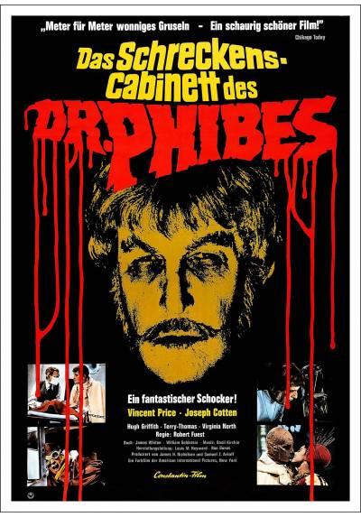 El abominable Dr. Phibes (Das Schreckenskabinett des Dr. Phibes) - Poster Laminado
