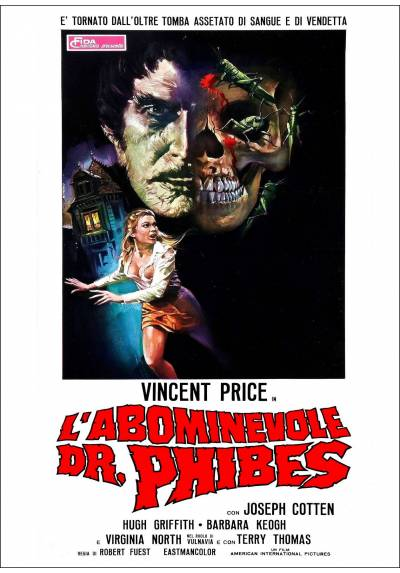 L'abominevole Dr. Phibes (El abominable doctor Phibes) - Poster Laminado