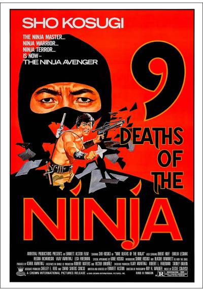 Las Nueve Muertes de Ninja (9 Deaths of the Ninja) - Poster Laminado